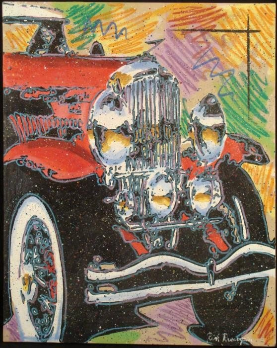 Duerrstein Original Painting Pop Art Antique Car