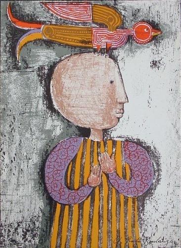 Garciela Rodo Boulanger CHILD WTIH BIRD Art Print