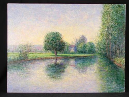 Scoppettone EPTE RIVER FRANCE Orig Impressionist Art