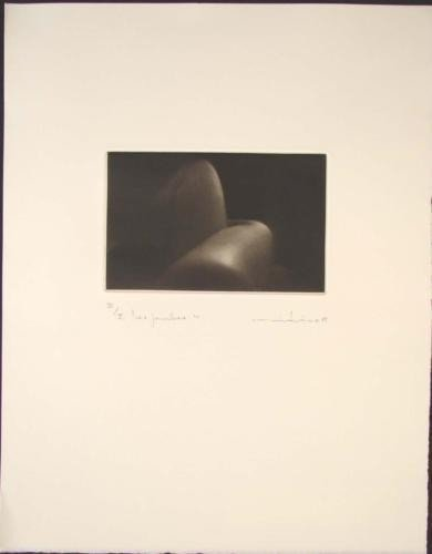 LES LEGS Sensuous Nude Mikio Watanabe Art Mezzotint