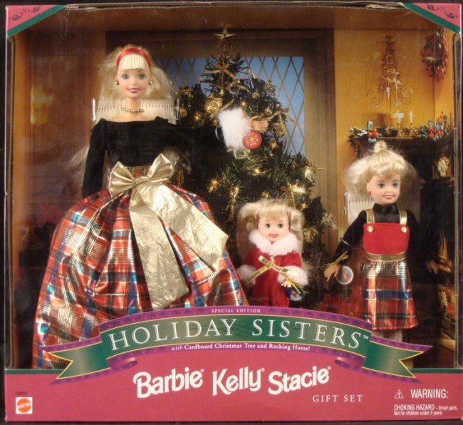 Barbie Holiday Sisters Kelly, Stacie Set 1998 MIB