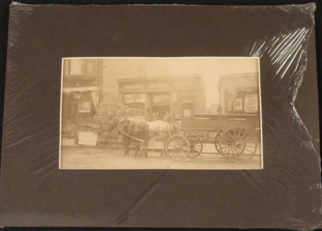 Original Antique Outdoor Street Shop Photo 1901