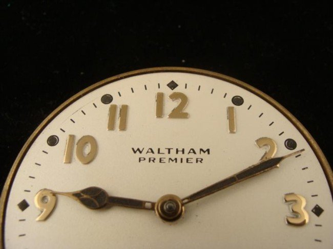Waltham Premier 8 Days Automobile Car Clock Antique - 3