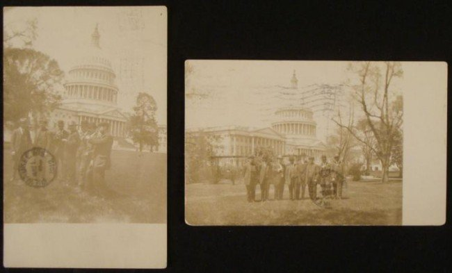 2 RPPC Photo Postcards-Crew of the Titanic 1912