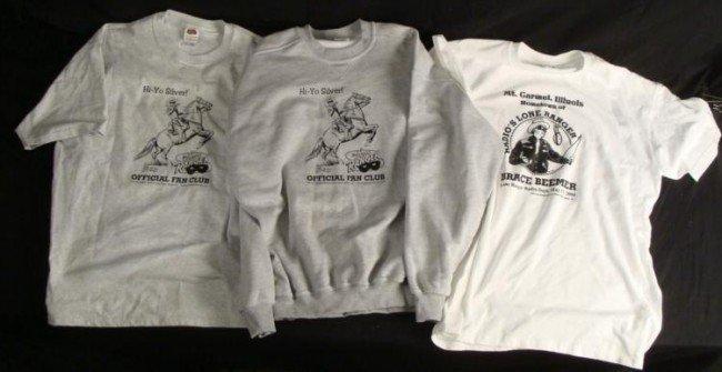 3 Lone Ranger T Shirts, Sweatshirt Fan Club, Mt. Carmel