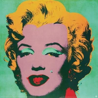 Warhol Marilyn Green-Small Poster