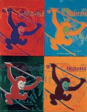 Warhol Four Monkeys (sm) Poster