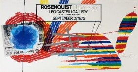 Signed 1975 Rosenquist Drawings Offset Lithograph