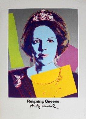 Warhol Queen Beatrix of the Netherlands Poster