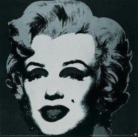 1989 Warhol Marilyn Black #24 Poster