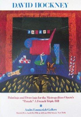 1980 Hockney Set for Parade Poster