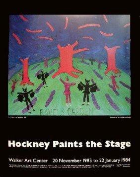 Hockney Ravels Garden with Night Glow Poster