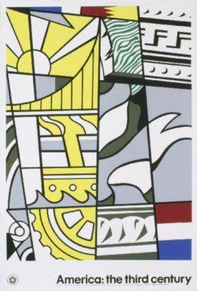 1976 Lichtenstein Bicentennial Poster Serigraph