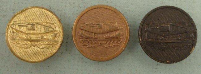 3 U.S. Tank Corps Collar Insignia Disks