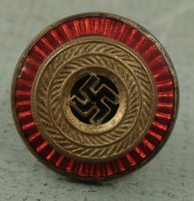 NAZI ENAMELED POLITICAL OFFICERS VISOR EMBLEM SWASTIKA