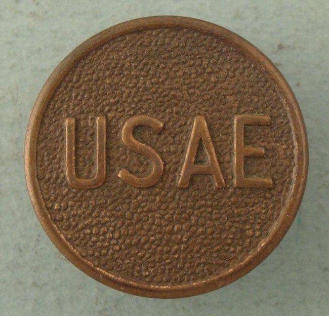 WWI USAE U.S. Army Engineer Collar Insignia Disk