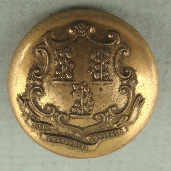 Civil War Connecticut State Seal Button Scovill