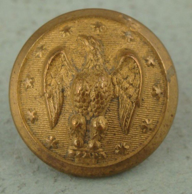 Confederate Officers Gold Button Extra Rich Treble Gilt