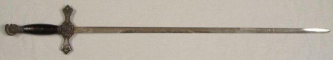 EARLY 1900s KNIGHTS TEMPLAR SWORD-DOUBLE ENGRAVED BLADE - 2