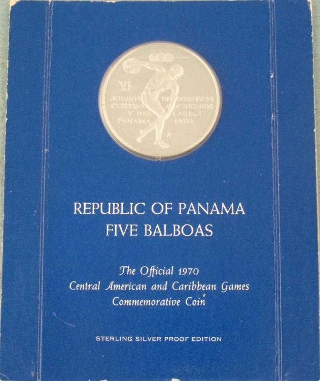 Republic of Panama Sterling Silver 5 Balboa Proof Coin
