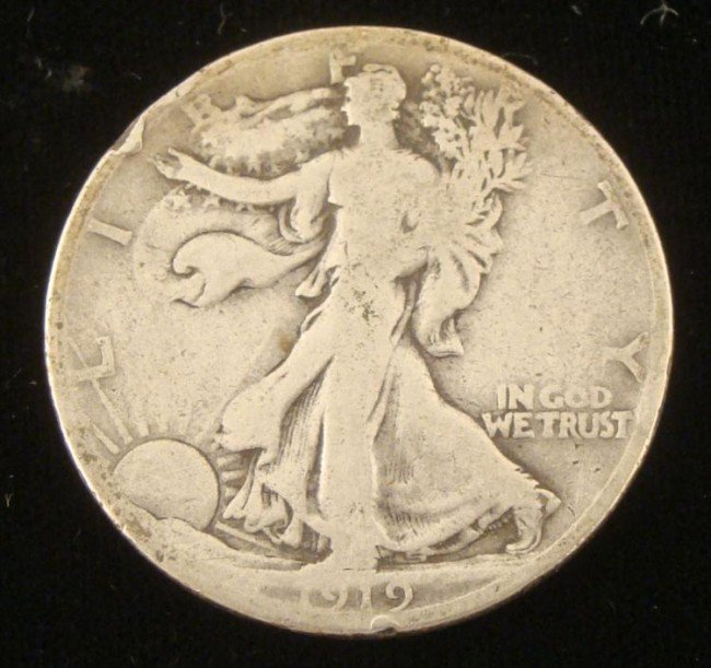 1919-S Walking Liberty Silver Half Dollar, Semi-Key