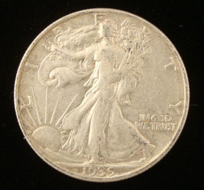 1939 Hi Grade Walking Liberty Half Dollar Silver Coin