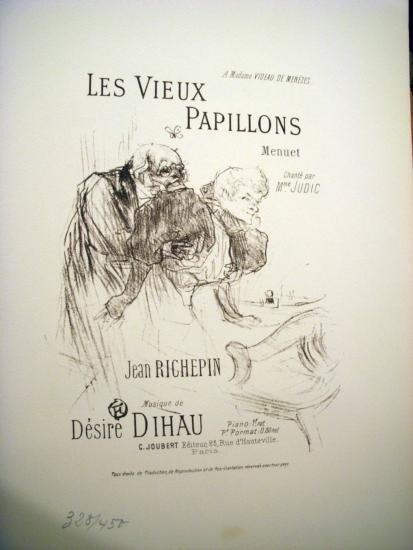 Les Vieux Papillons by Tolouse Lautrec