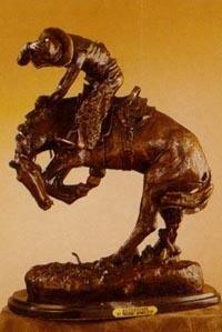 Rattlesnake By Frederick Remington Bronze Sculpture