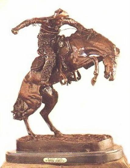 Wooly Chaps By Frederick Remington Bronze Sculpture