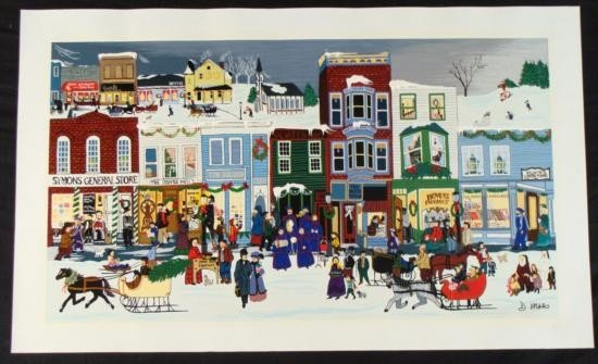 Deneille Spohn Moes Signed Canvas Print Christmas Dream