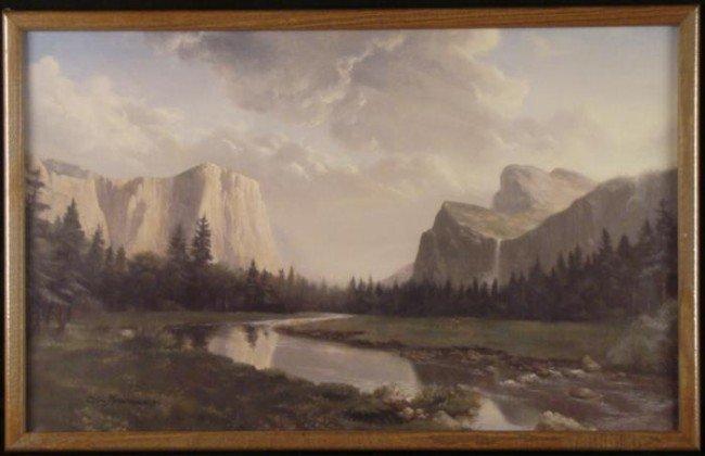 Dino Massaroni Framed Western Mountain Landscape Print
