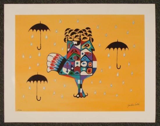 Jonathan Winters Comedian Signed Art Print - Rain Bird