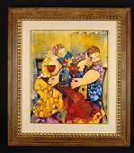 Dorit Levi Original Framed Oil Painting Cocktail Party