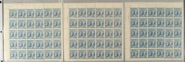 90 Canada Alexander Graham Bell 4 Cent Stamps Sheets