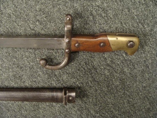 M1874 FRENCH EPEE/GRAS SWORD BAYONET 1879 ST. ETIENNE