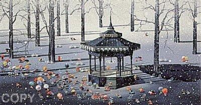 Winter Day by Yamagata Signed Serigraph