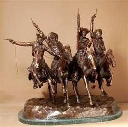 Coming Through the Rye By Frederick Remington Bronze