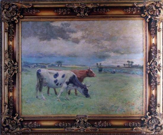 Souza pinto - Portuguese paint - 68x69cm - signed
