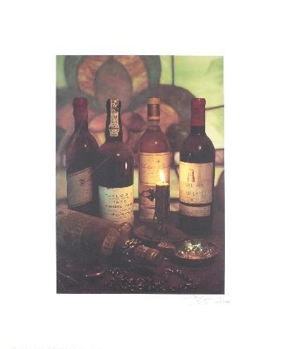 Signed Edwards Art of Wine Offset Lithograph
