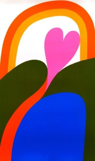 Signed 1968 Summers Lincoln Center Serigraph
