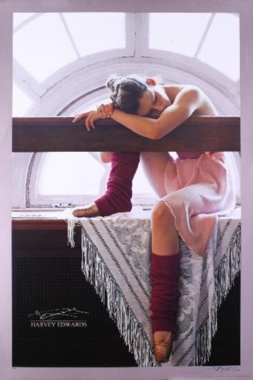 Signed Edwards Ballet Dreams Offset Lithograph