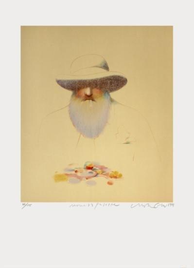 Signed 1981 Glaser Monet's Palette Lithograph
