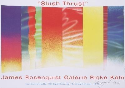 Signed 1970 Rosenquist Slush Thrust Poster