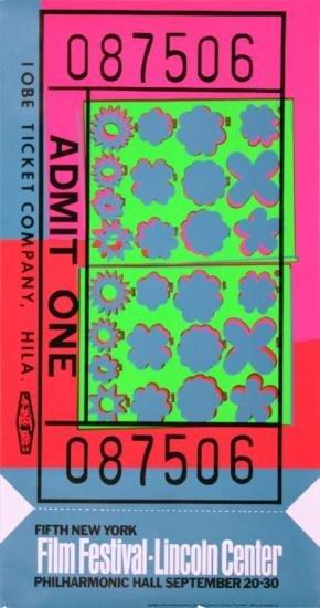 1967 Warhol Lincoln Center Ticket Serigraph