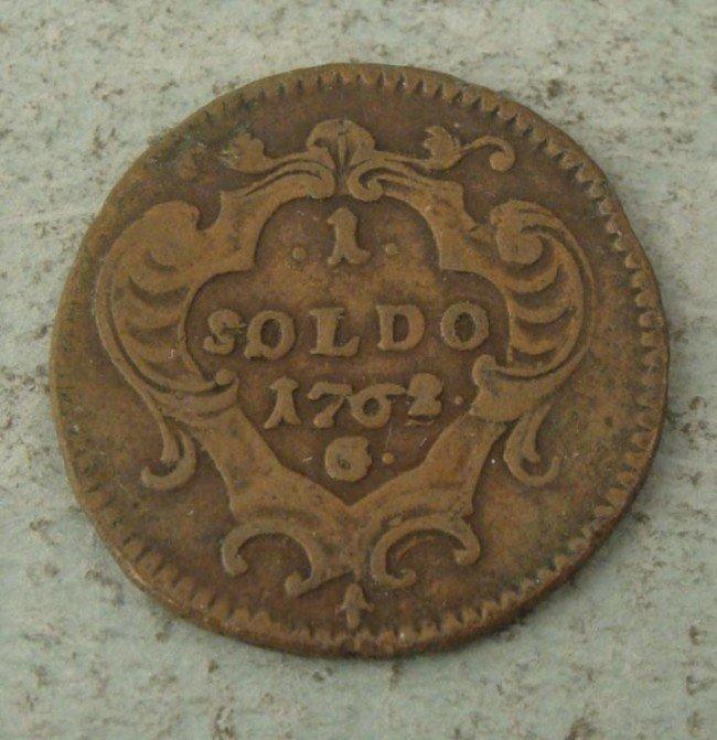 Italy Hi Grade 1762G One 1 Soldo Coin Rare