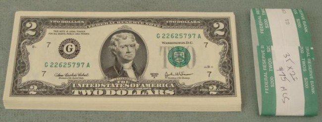 35 Consec 2003A $2 Bills CU Notes G Mint Chicago