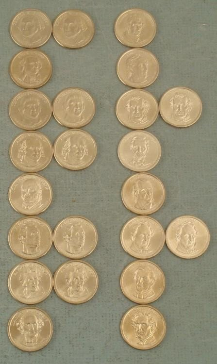23 Different Presidential Genuine Gold Dollars Coins