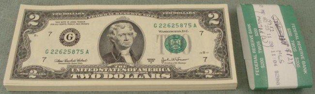 59 Consec 2003A $2 Bills CU Notes G Mint Chicago