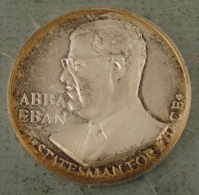 Israel Abba Eben 1967 Silver UN Medal Statesman