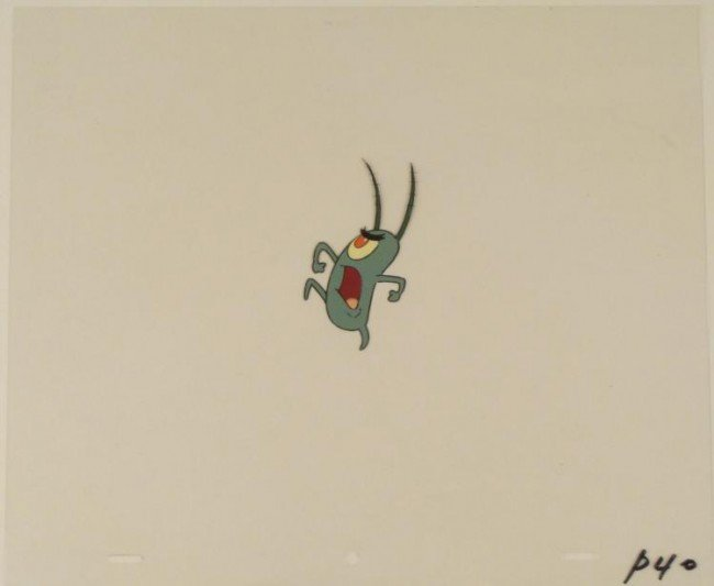 Spongebob Cel Animation Putting Foot Down Original Art